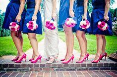 wedding in hot pink and navy blue  #wedding #denverwedding