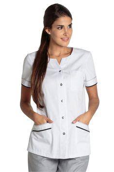 Blouse médicale moderne Barcelonnette de DYNEKE est vendu sur la boutique mylookpro.com dans la catégorie Tunique Infirmiére Spa Uniform, Scrubs Uniform, Maid Uniform, Medical Uniforms, Work Uniforms, Nursing Wear, Nursing Clothes, Doctor White Coat, Salon Wear