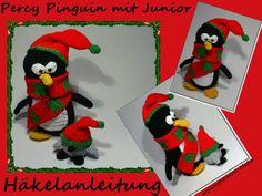 """Häkelanleitungen - """"Percy Pinguin mit Junior"""" Häkelanleitung - ein Designerstück von Woll-Mafia bei DaWanda"""