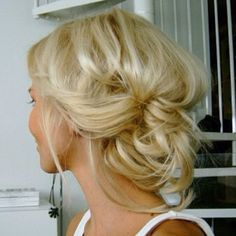 cute idea for shower or engagement party hair. i wish i could figure out how to do it myself!