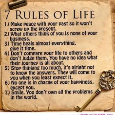 Quotes About 7 Rules Of Life Fresh 7 Rules Of Life Raw for Beauty Words – Quotes Ideas Life Quotes Love, Wisdom Quotes, Qoutes, Quotes Quotes, Quotations, Daily Quotes, Quote Life, Respect Quotes, Smart Quotes