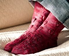 Ivy Brambles Autumn Flame Sock Pattern by Patti Waters