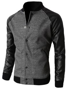 Men's Slim Fit Varsity Baseball Bomber Jacket