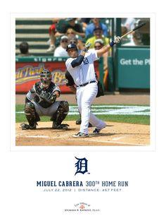 Miguel Cabrera 300th home run poster