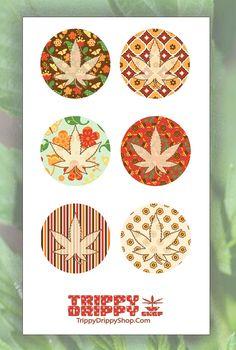 Fall Round Marijuana Stickers - Planner Craft Cannabis - Harvest by…