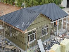The can be joined together to form or which are used as and floors. Prefab, Second Floor, Steel Frame, Floors, Studs, Frames, Villa, Outdoor Structures, China