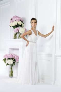 Discover the Jasmine Bridal Gown. Find exceptional Jasmine Bridal Gowns at The Wedding Shoppe Gatsby Wedding Dress, Grecian Wedding, Wedding Dresses 2014, Stunning Wedding Dresses, Wedding Bridesmaid Dresses, Wedding Dress Styles, Bridal Dresses, Wedding Gowns, Wedding Hair