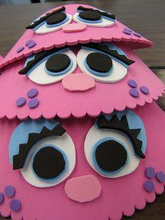 Abby Cadabby visor for a Sesame Street themed party