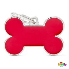 Show details for Big Bone Red Pet ID Tag Free engraving www.myfamily.it
