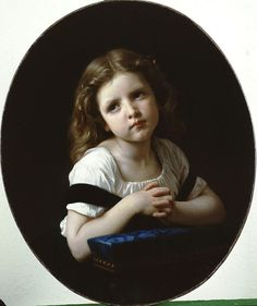 """""""The Prayer,"""" 1865 -- by William-Adolphe Bouguereau (1825-1905); Oil on canvas"""