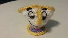 Chip from Beauty and the Beast. Crochet doll pet.