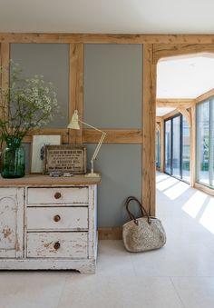 Home Decoration For Ganpati Barn Conversion Interiors, Oak Furniture, Home, Oak Framed Buildings, House Inspiration, House Interior, Cottage Interiors, Barn Interior, Wood Doors Interior