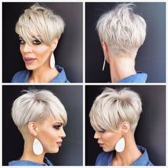 Ok for my pixie friends who have asked for a . Jennifer DelValle… Ok for my pixie friends who have asked for a . Popular Short Haircuts, Short Pixie Haircuts, Cute Hairstyles For Short Hair, Short Hair Cuts For Women, Pixie Hairstyles, Short Hair Styles, Undercut Pixie Haircut, Oval Face Haircuts, Short Grey Hair