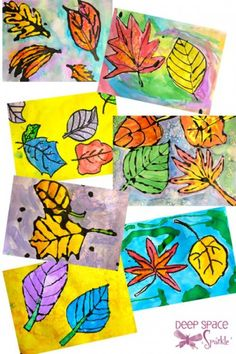 Watercolor leaves: an art project for elementary schoolers | @offbeathome