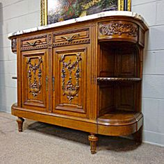 19th Century French Antique Demi Lune Sideboard