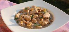 Pollo garam masala con salsa de yogur y nueces Pollo Garam Masala, Potato Salad, Potatoes, Chicken, Meat, Ethnic Recipes, Food, Yogurt Sauce, Spice