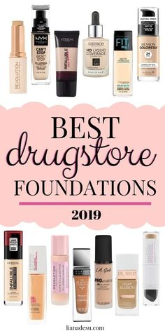 What drugstore foundation is the best? Do you know what drugstore foundation you. - Make Up Best Drugstore Foundation, Foundation Dupes, Foundation For Oily Skin, Drugstore Makeup Dupes, Elf Dupes, Eyeshadow Dupes, Lipstick Dupes, Best Foundation For Combination Skin, Full Coverage Drugstore Foundation