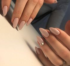 Always modern nude color on almond shape of the nails will look beautiful on every hand. Source In this article we will talk about the most modern nails and what kind of manicure will not pass unnoticed in the near… Continue Reading → # nails Elegant Nails, Classy Nails, Chic Nails, Classy Almond Nails, Fun Nails, Pretty Nails, Nails 24, Polish Nails, Classy Nail Designs