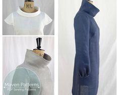 The French Dart Shift Tunic PDF sewing pattern by mavenpatterns.pdf from etsy.Like muchly. Tunic Sewing Patterns, Tunic Pattern, Top Pattern, Clothing Patterns, Dress Patterns, Sewing Clothes, Diy Clothes, Dress Sewing, Sewing Hacks
