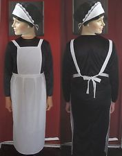 ADULTS VICTORIAN MAID 10-18 for downton abbey APRON HEADBAND post free in Clothes, Shoes & Accessories, Fancy Dress & Period Costume, Fancy Dress, Women's Fancy Dress | eBay