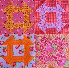 Modern churn dash quilt squares | Molly Flanders.