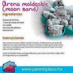 receta arena moldeable o moon sand casera
