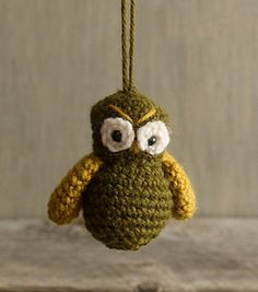The possibilities for this crocheted owl ornament are endless. :)