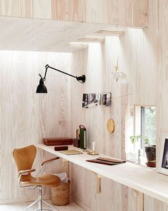 The fab 'wood' studio of Danish photogapher Ditte Isager.