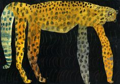 'Cheetah' (2008) by Japanese artist Miroco Machiko (b.1981). 360 x 510 mm. via the artist's site