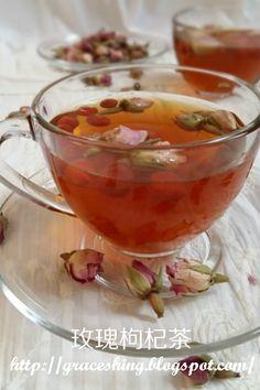 Grace's Blog 欣语心情: 玫瑰枸杞茶