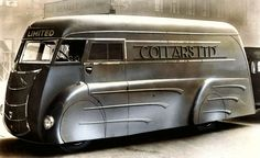 "danismm: ""Art Deco laundry van built in the 1930s by Holland Coachcraft of Govan, Scotland. """