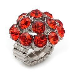Orange Delight CZ Dome Ring  http://www.inspiredsilver.com/ #cocktailring #ring  #jewelry