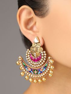 Exquisite meenakari earrings. #indianbridal