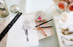 At the office with Dallas Shaw, Fashion Illustrator