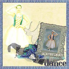 a beautiful layout by Joanna using, Just Dance