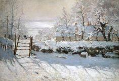 Claude Monet - La pie - version couleurs froides