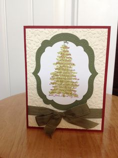 Stampin Up Christmas card  silent night tree by treehouse05, $3.50