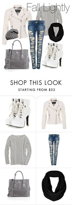 A fashion look from September 2013 featuring boatneck sweater, pocket jacket and blue ripped jeans. Browse and shop related looks. Collages, Madewell, Fall Outfits, Prada, Topshop Outfit, Bear, Shoe Bag, Clothes For Women, Female