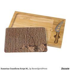 Sumerian Cuneiform Script Middle East Archaeology Cheese Board