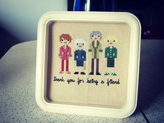 I LOVE seeing new stuff when it pops up in the Offbeat Home Flickr pool. (Ahem, have YOU been submitting?) And our latest photo addition is one of the best things I've ever seen to come out of the crafting world: Viva la Frida's Golden Girls cross stitch.