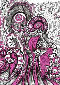 Good and Plenty Pink and Black Paisley by PeriwinklePaisley