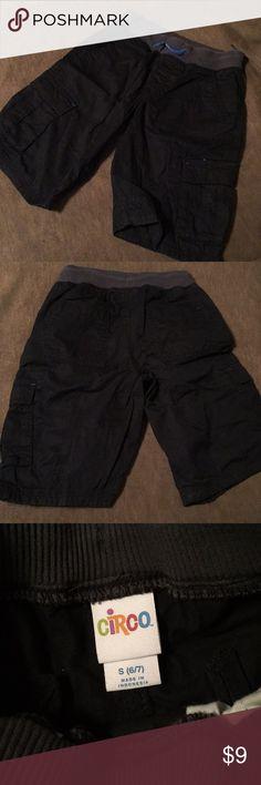 Boys black shorts Boys black khaki shorts, size 6-7, drawstring waist, worn once - great condition 🔷bundle⚫️ Circo Bottoms Shorts