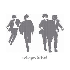 The Beatles running jumping cross stitch by LeRayonDeSoleil