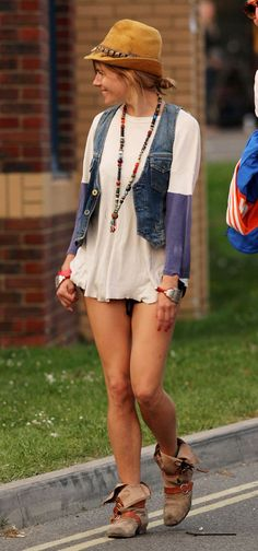 sienna miller - i would hope she has shorts on but other than that, i love the carelessness and flow of these pieces