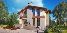 Проект загородного дома из газобетона - «Карлоу»