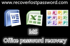 A MS Office password recovery tool is able to recover lost Office password, no matter it is Word, Excel or PowerPoint.