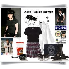"""""""Goth But Not (Abby - Pauley Perrette)"""" by mcheffer on Polyvore"""