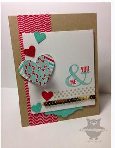 Stampin' Up! stamp set Perfect Pennants; Dani's Thoughtful Corner: You & Me Mojo327