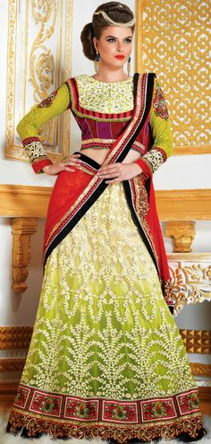 Olive Green #wedding #wear #lehenga #design