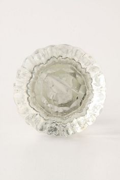 Notched Glass Knob #anthropologie  Bathroom Hardware